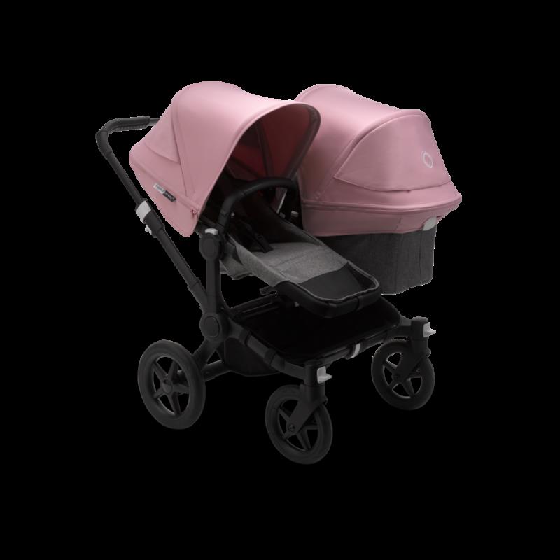 Paketti Bugaboo Donkey3 Duo sisarusrattaat Grey Melange - Soft Pink / Black runko Bugaboo - 1