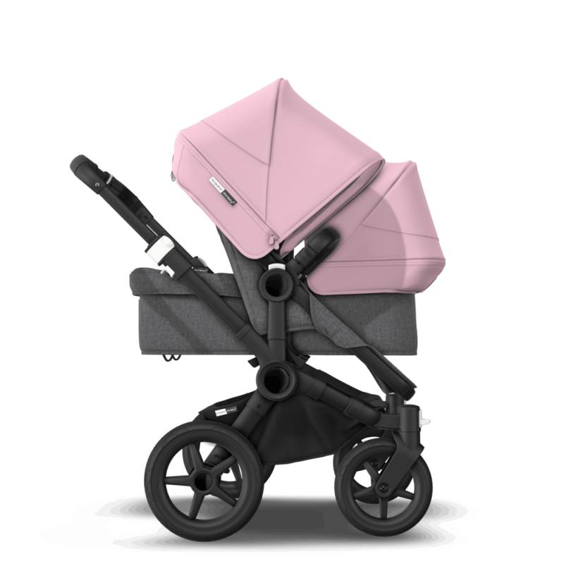 Paketti Bugaboo Donkey3 Duo sisarusrattaat Grey Melange - Soft Pink / Black runko Bugaboo - 4