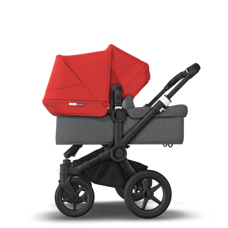Paketti Bugaboo Donkey3 Duo sisarusrattaat Grey Melange - Red / Black runko Bugaboo - 4