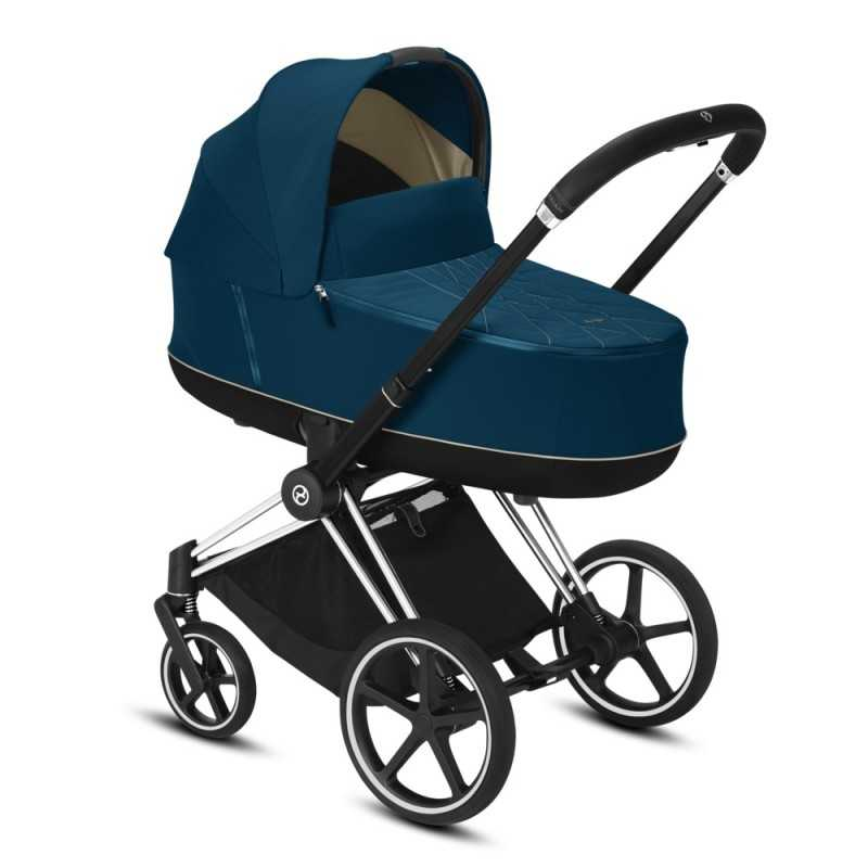 Paketti Cybex Priam Yhdistelmävaunu, Chrome Black - Mountain Blue Cybex - 1