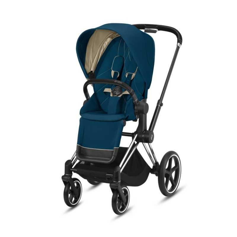 Paketti Cybex Priam Yhdistelmävaunu, Chrome Black - Mountain Blue Cybex - 2