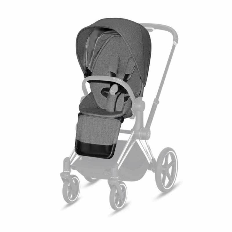 Paketti Cybex Priam Yhdistelmävaunu, Chrome Brown - Manhattan Grey Plus Cybex - 1