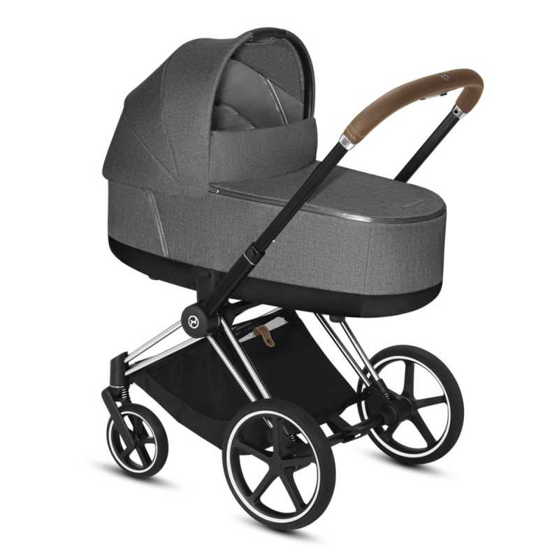 Paketti Cybex Priam Yhdistelmävaunu, Chrome Brown - Manhattan Grey Plus Cybex - 2