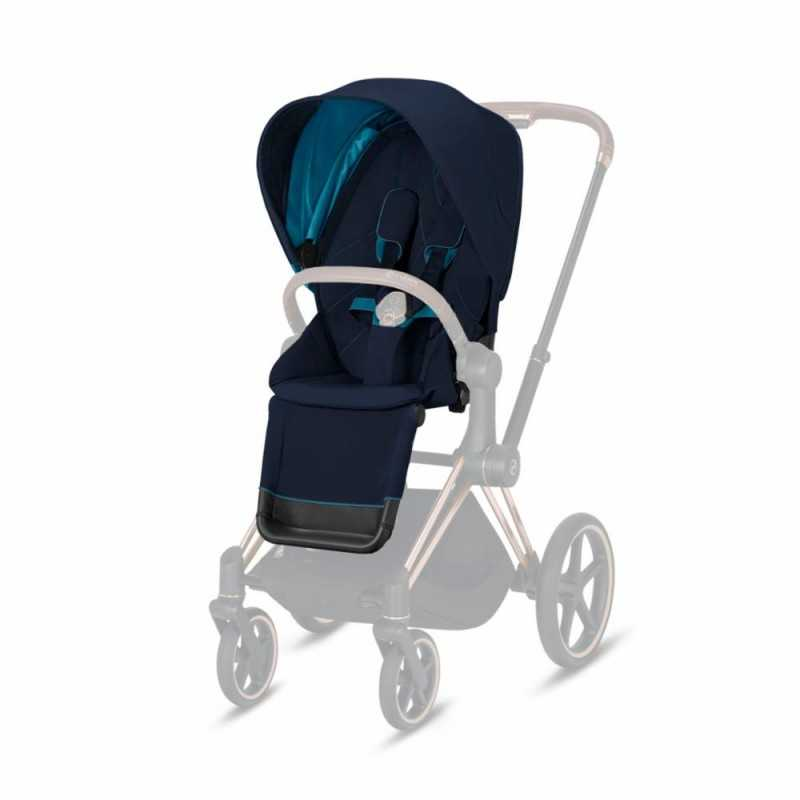 Paketti Cybex Priam Yhdistelmävaunu, Chrome Brown - Nautical Blue Cybex - 1