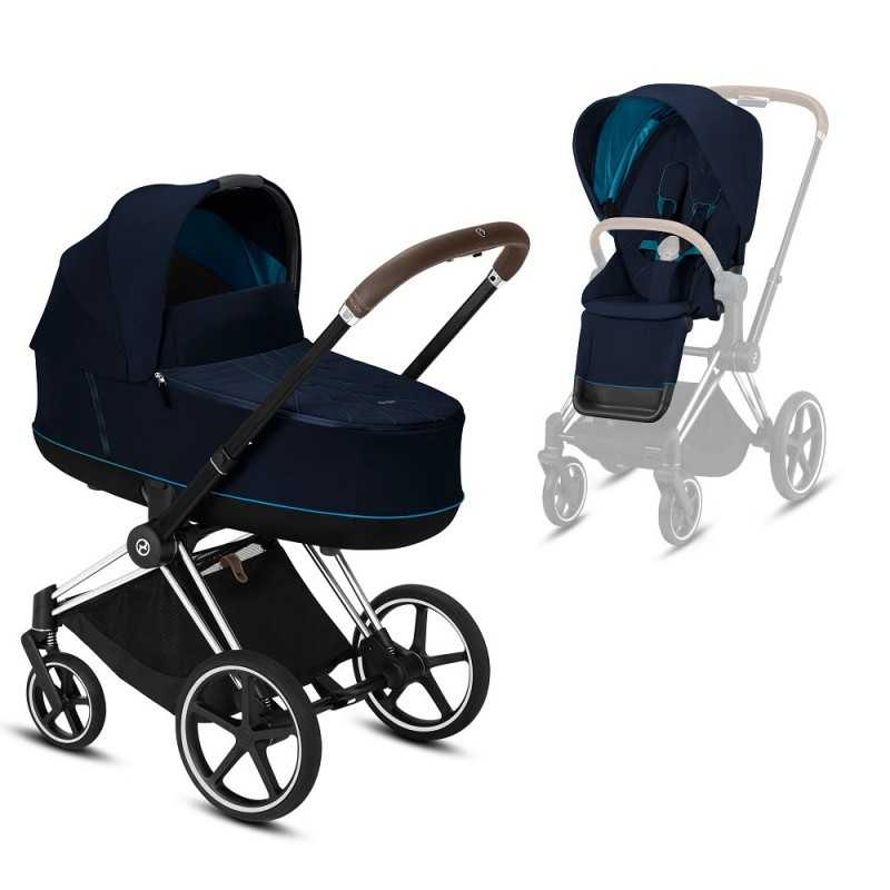 Paketti Cybex Priam Yhdistelmävaunu, Chrome Brown - Nautical Blue Cybex - 2