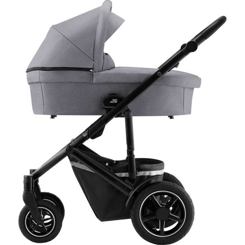 Paketti Britax Smile 3 Yhdistelmävaunu, Frost Grey/Black + Baby-Safe 3 + Flex iSENSE jalusta + varustepaketti Britax - 5