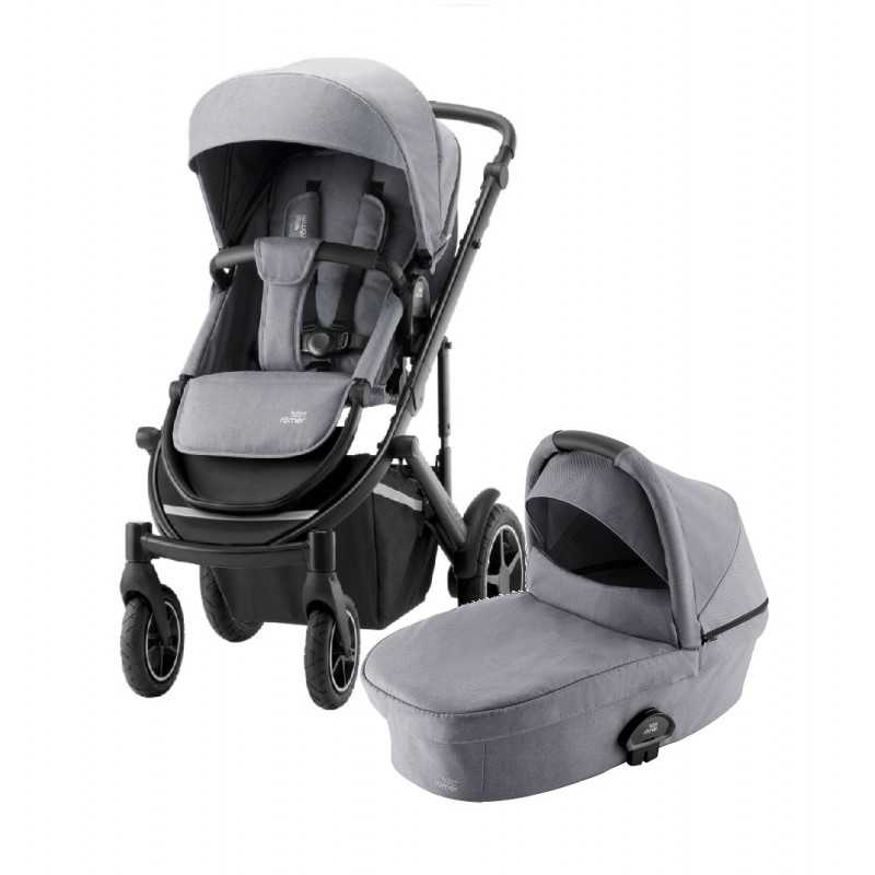 Paketti Britax Smile 3 Yhdistelmävaunu, Frost Grey/Black + Baby-Safe 2 I-Size, Cosmos Black Britax - 6