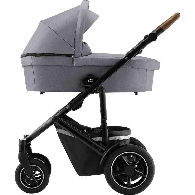Paketti Britax Smile 3 Yhdistelmävaunu, Frost Grey/Brown + Baby-Safe 3 + Flex iSENSE jalusta + varustepaketti Britax - 5