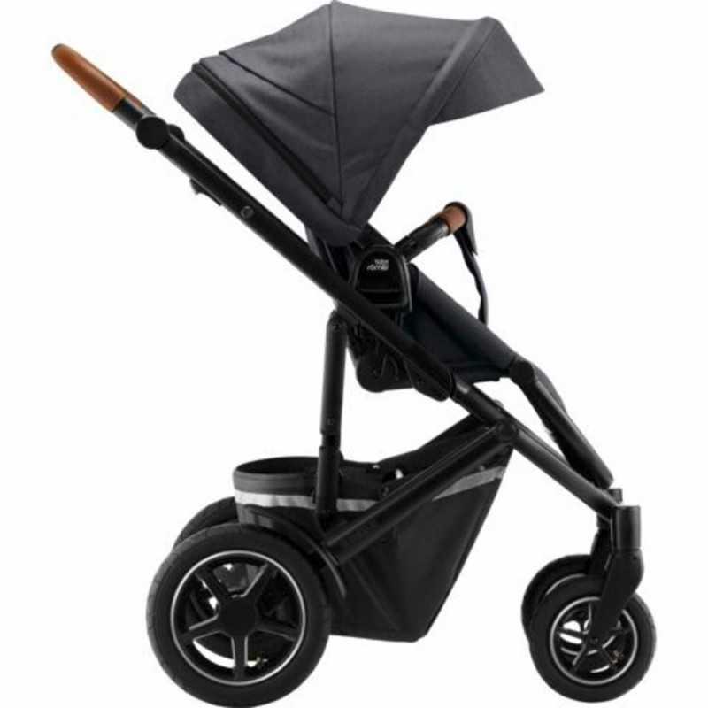 Paketti Britax Smile 3 Yhdistelmävaunu, Midnight Grey + Baby-Safe 3 + Flex iSENSE jalusta + varustepaketti Britax - 3