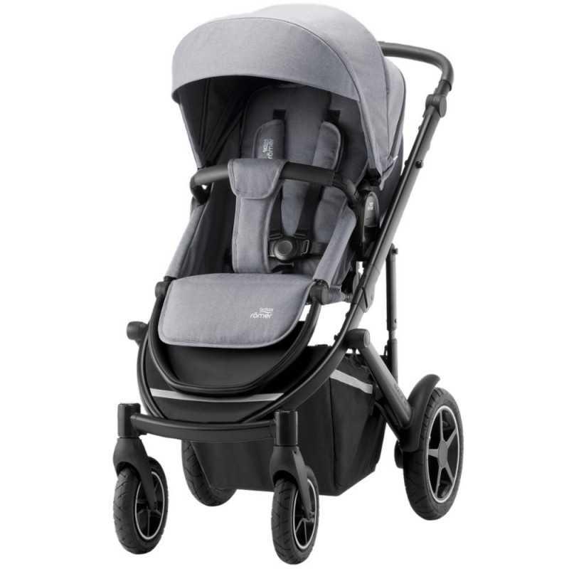 Paketti Britax Smile 3 Yhdistelmävaunu, Frost Grey/Black + Baby-Safe 2 I-Size + Flex jalusta, Cosmos Black Britax - 1