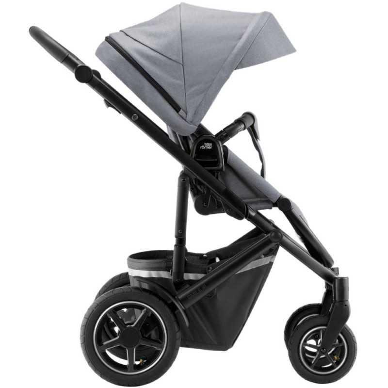Paketti Britax Smile 3 Yhdistelmävaunu, Frost Grey/Black + Baby-Safe 2 I-Size + Flex jalusta, Cosmos Black Britax - 3