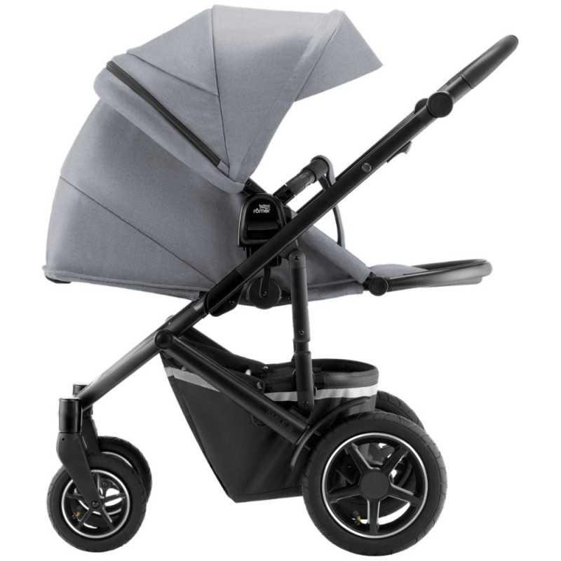 Paketti Britax Smile 3 Yhdistelmävaunu, Frost Grey/Black + Baby-Safe 2 I-Size + Flex jalusta, Cosmos Black Britax - 4