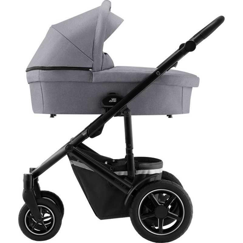 Paketti Britax Smile 3 Yhdistelmävaunu, Frost Grey/Black + Baby-Safe 2 I-Size + Flex jalusta, Cosmos Black Britax - 5