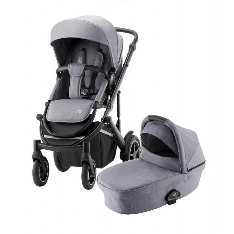 Paketti Britax Smile 3 Yhdistelmävaunu, Frost Grey/Black + Baby-Safe 2 I-Size + Flex jalusta, Cosmos Black Britax - 6