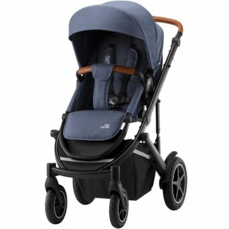 Paketti Britax Smile 3 Yhdistelmävaunu, Indigo Blue + Baby-Safe 2 I-Size + Flex jalusta, Cosmos Black Britax - 1
