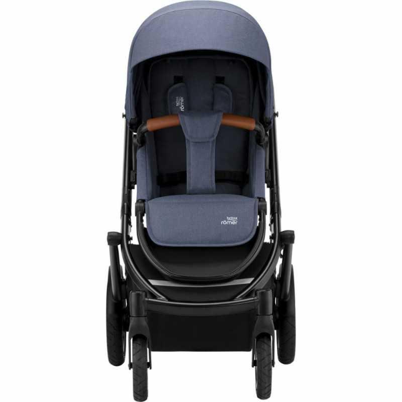 Paketti Britax Smile 3 Yhdistelmävaunu, Indigo Blue + Baby-Safe 2 I-Size + Flex jalusta, Cosmos Black Britax - 2