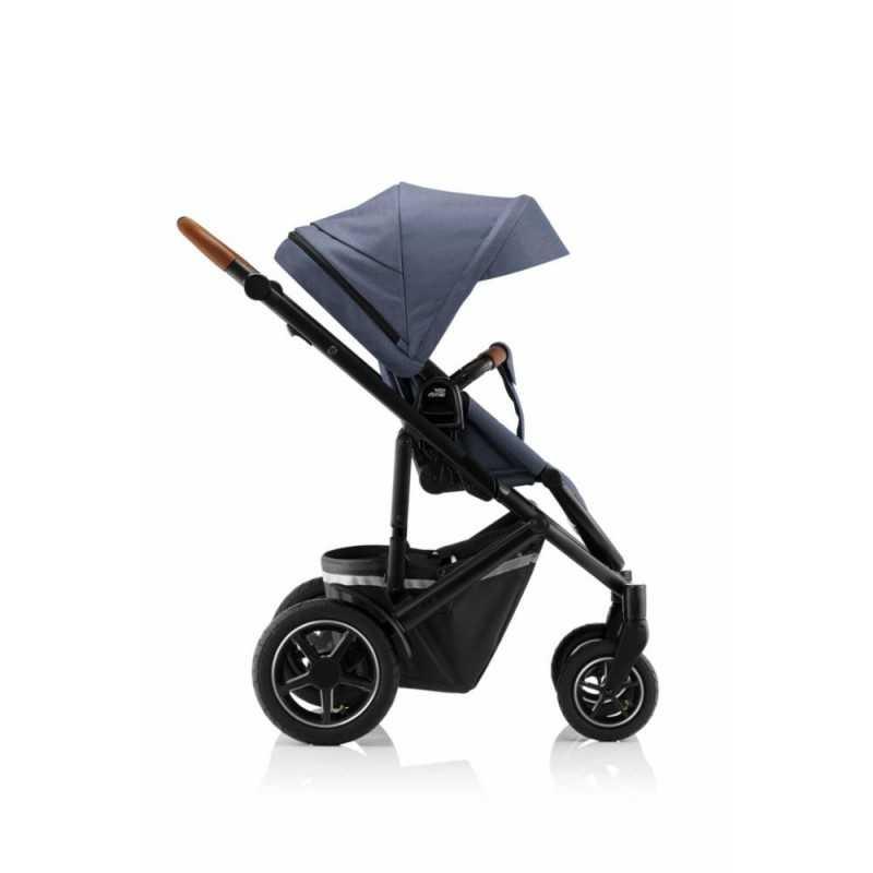 Paketti Britax Smile 3 Yhdistelmävaunu, Indigo Blue + Baby-Safe 2 I-Size + Flex jalusta, Cosmos Black Britax - 3