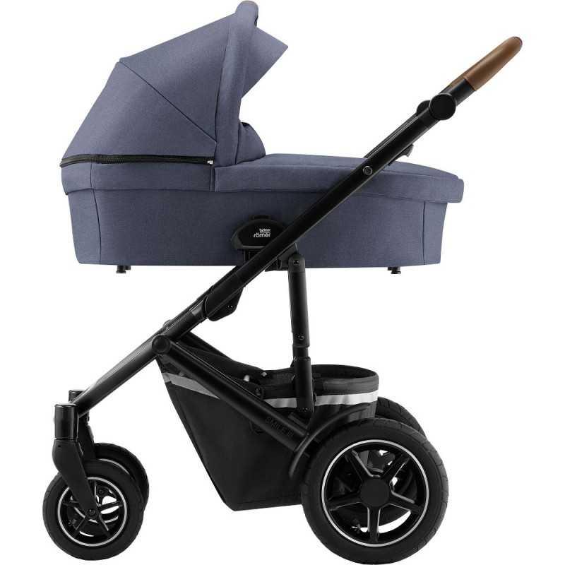 Paketti Britax Smile 3 Yhdistelmävaunu, Indigo Blue + Baby-Safe 2 I-Size + Flex jalusta, Cosmos Black Britax - 4