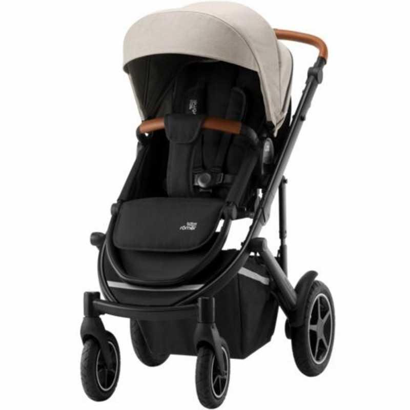Paketti Britax Smile 3 Yhdistelmävaunu, Pure Beige + Baby-Safe 2 I-Size + Flex jalusta, Cosmos Black Britax - 1