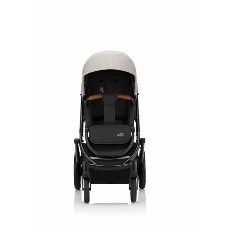 Paketti Britax Smile 3 Yhdistelmävaunu, Pure Beige + Baby-Safe 2 I-Size + Flex jalusta, Cosmos Black Britax - 2