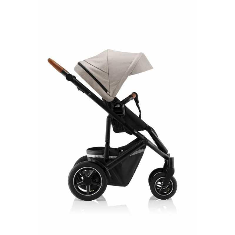 Paketti Britax Smile 3 Yhdistelmävaunu, Pure Beige + Baby-Safe 2 I-Size + Flex jalusta, Cosmos Black Britax - 3