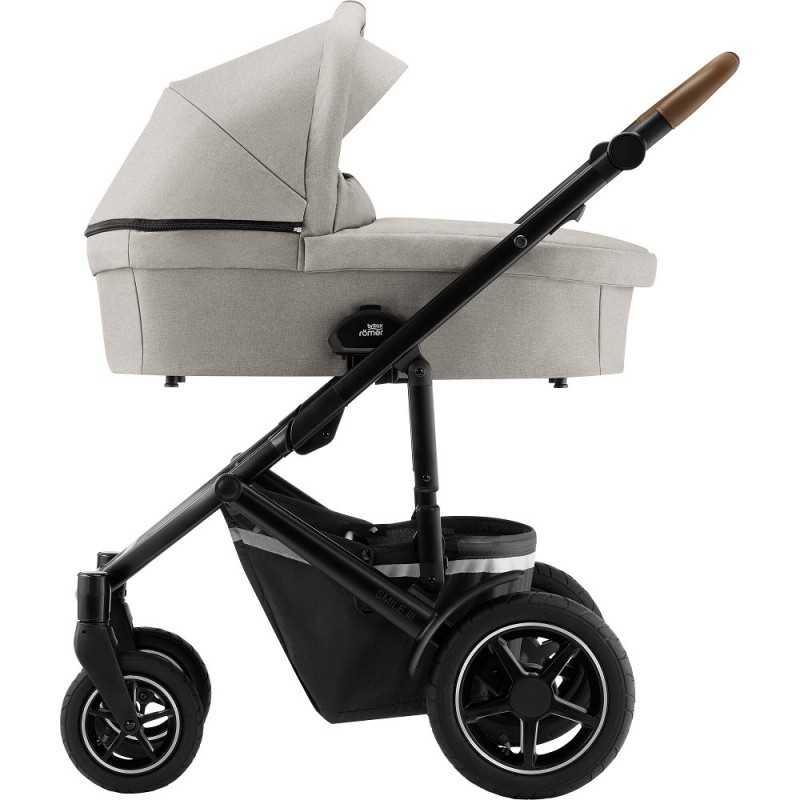 Paketti Britax Smile 3 Yhdistelmävaunu, Pure Beige + Baby-Safe 2 I-Size + Flex jalusta, Cosmos Black Britax - 4