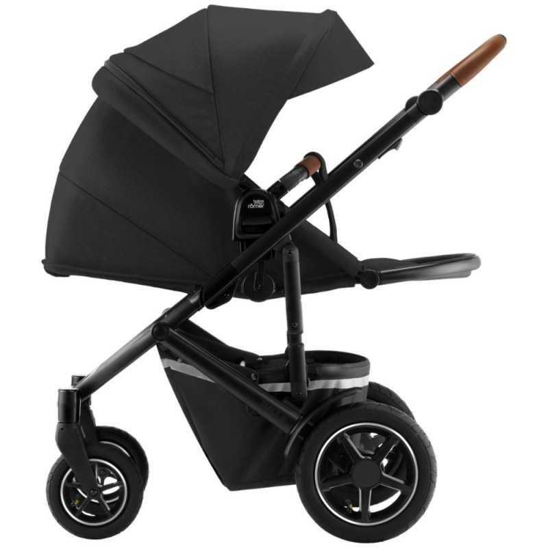 Paketti Britax Smile 3 Yhdistelmävaunu, Space Black + Baby-Safe iSENSE + Flex iSENSE jalusta + varustepaketti Britax - 3