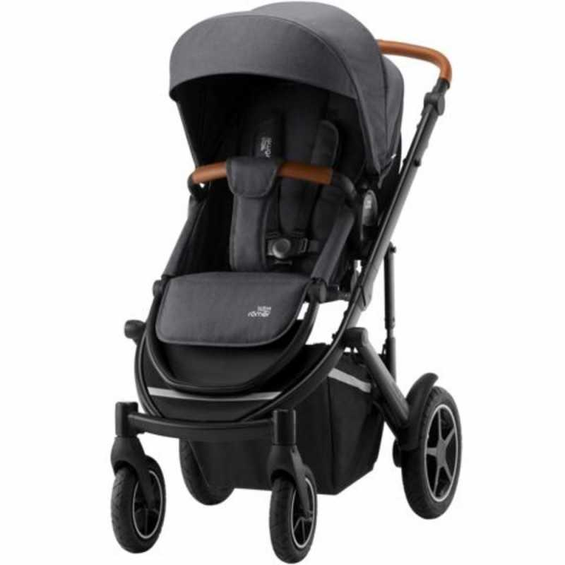Paketti Britax Smile 3 Yhdistelmävaunu, Midnight Grey + Baby-Safe 2 I-Size + Flex jalusta, Cosmos Black Britax - 1