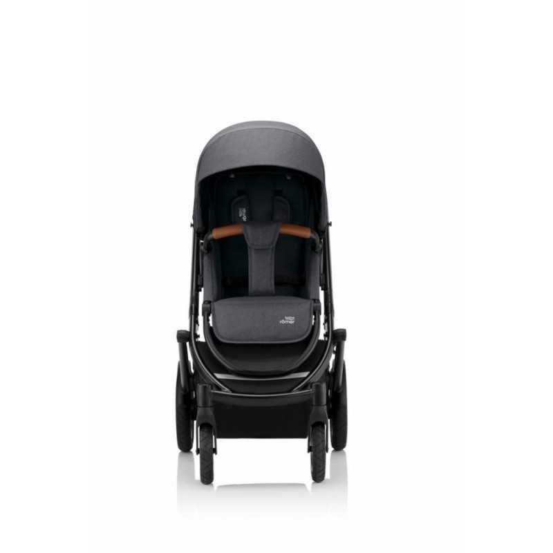 Paketti Britax Smile 3 Yhdistelmävaunu, Midnight Grey + Baby-Safe 2 I-Size + Flex jalusta, Cosmos Black Britax - 2