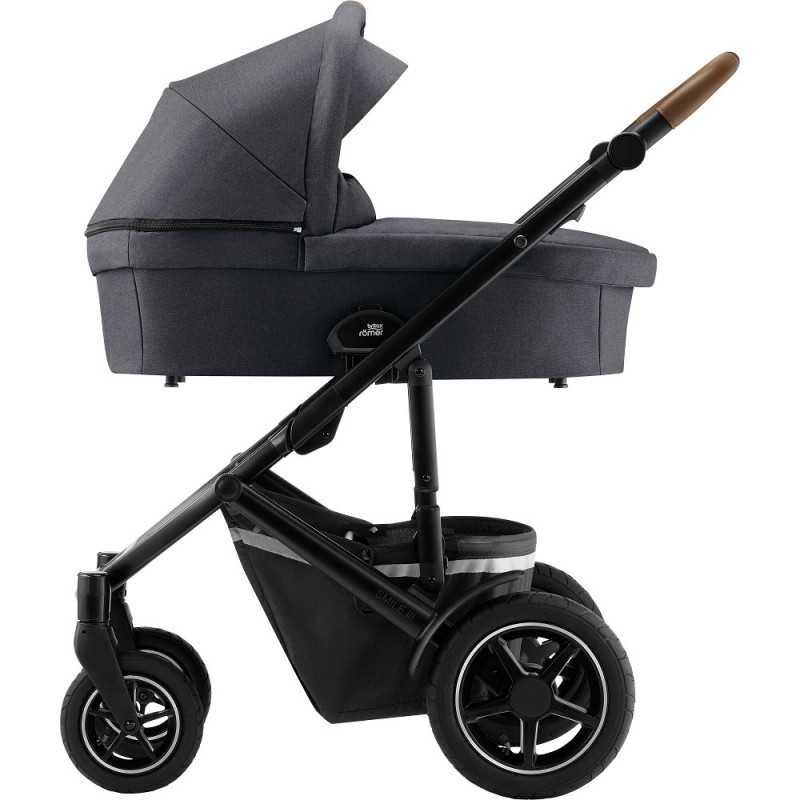 Paketti Britax Smile 3 Yhdistelmävaunu, Midnight Grey + Baby-Safe 2 I-Size + Flex jalusta, Cosmos Black Britax - 4