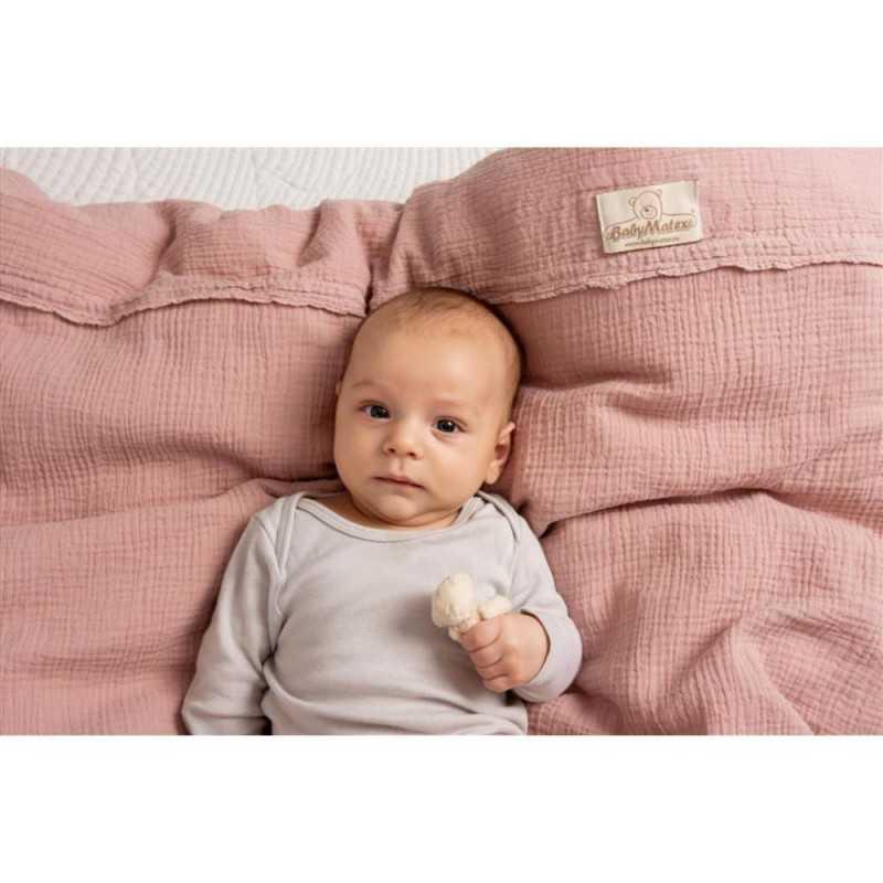BabyMatex Muslin Pussilakanasetti, Rosa BabyMatex - 4