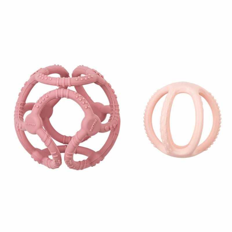 Nattou Vauvan Pallohelistin, vaaleanpunainen Nattou - 2