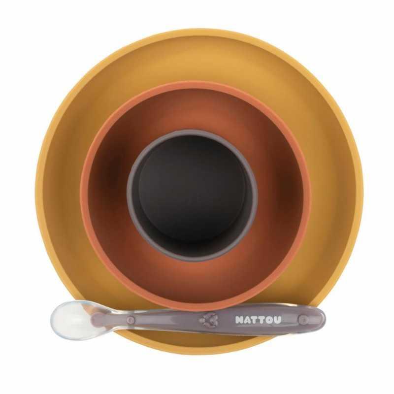 Nattou Lasten astiasto silikoninen, Ochre Nattou - 2