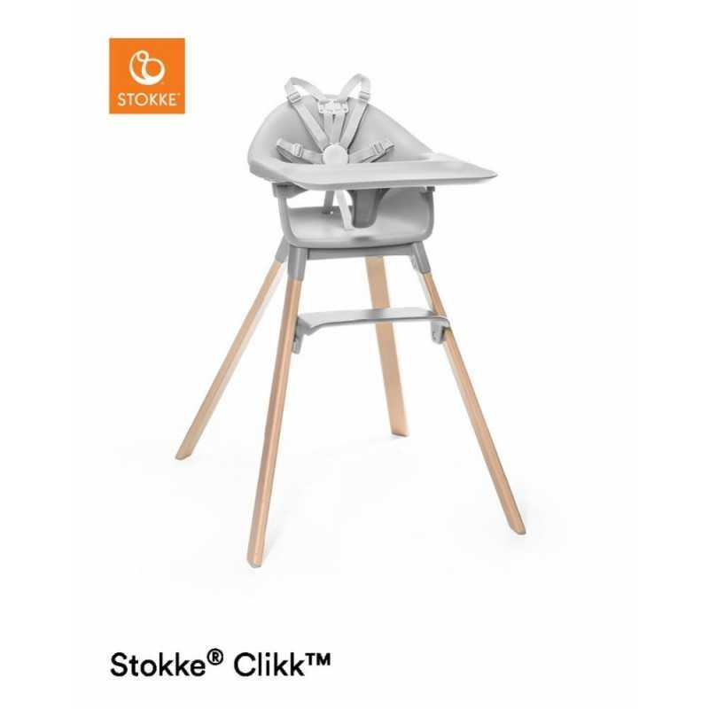 Paketti Stokke Clikk syöttötuoli Grey + ezpz by Stokke ruokailualusta Stokke - 1