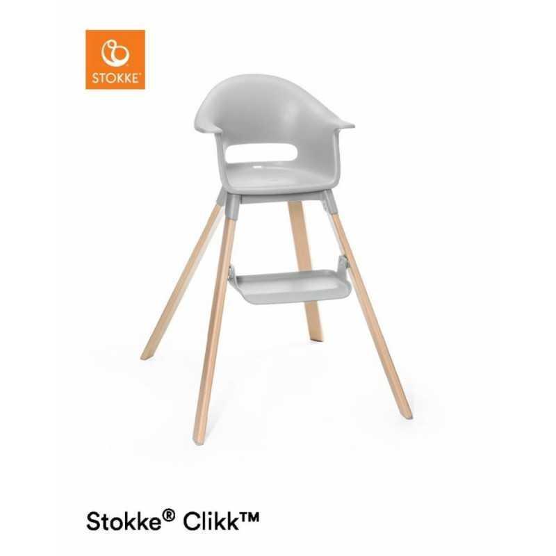Paketti Stokke Clikk syöttötuoli Grey + ezpz by Stokke ruokailualusta Stokke - 2