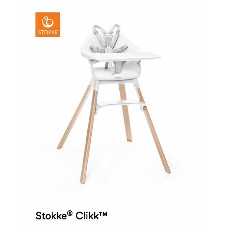 Paketti Stokke Clikk syöttötuoli Valkoinen + ezpz by Stokke ruokailualusta Stokke - 1