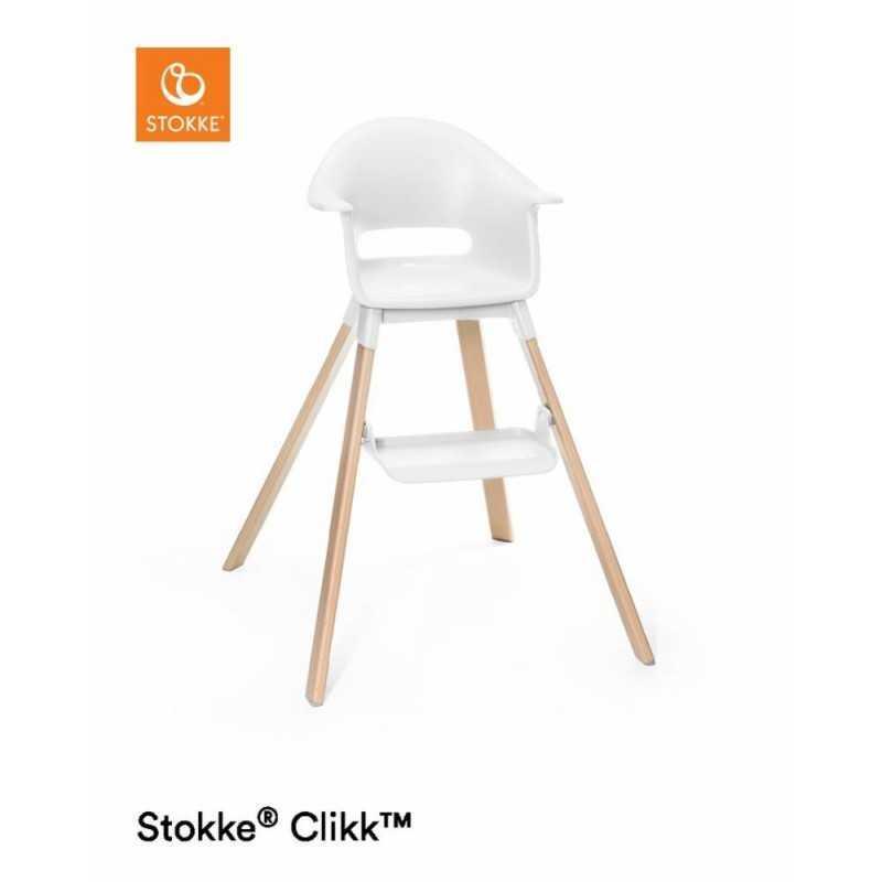 Paketti Stokke Clikk syöttötuoli Valkoinen + ezpz by Stokke ruokailualusta Stokke - 2
