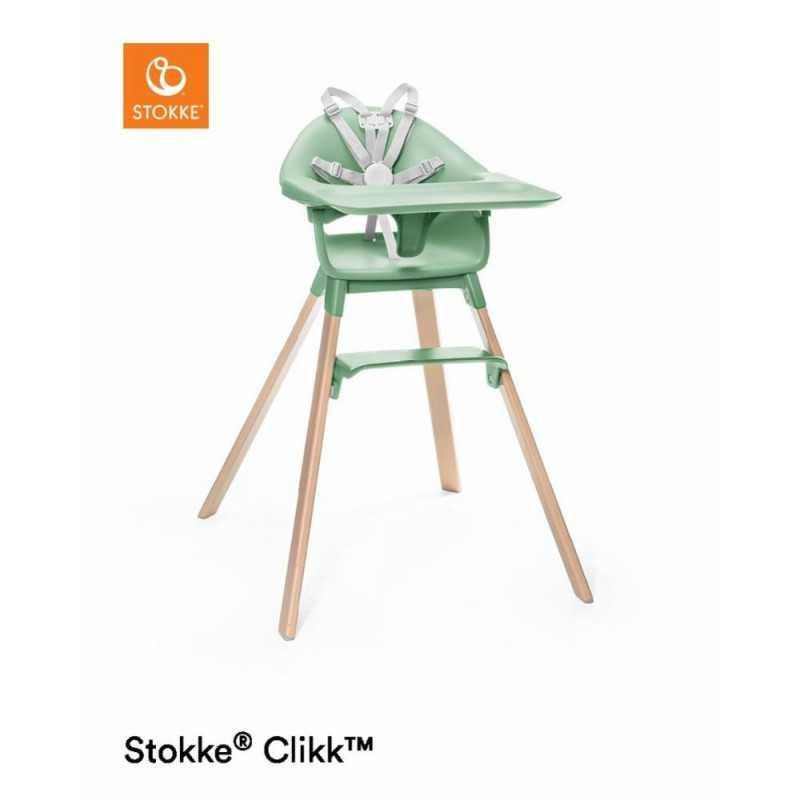 Paketti Stokke Clikk syöttötuoli Clover green + Stokke Clikk Travel bag Stokke - 1