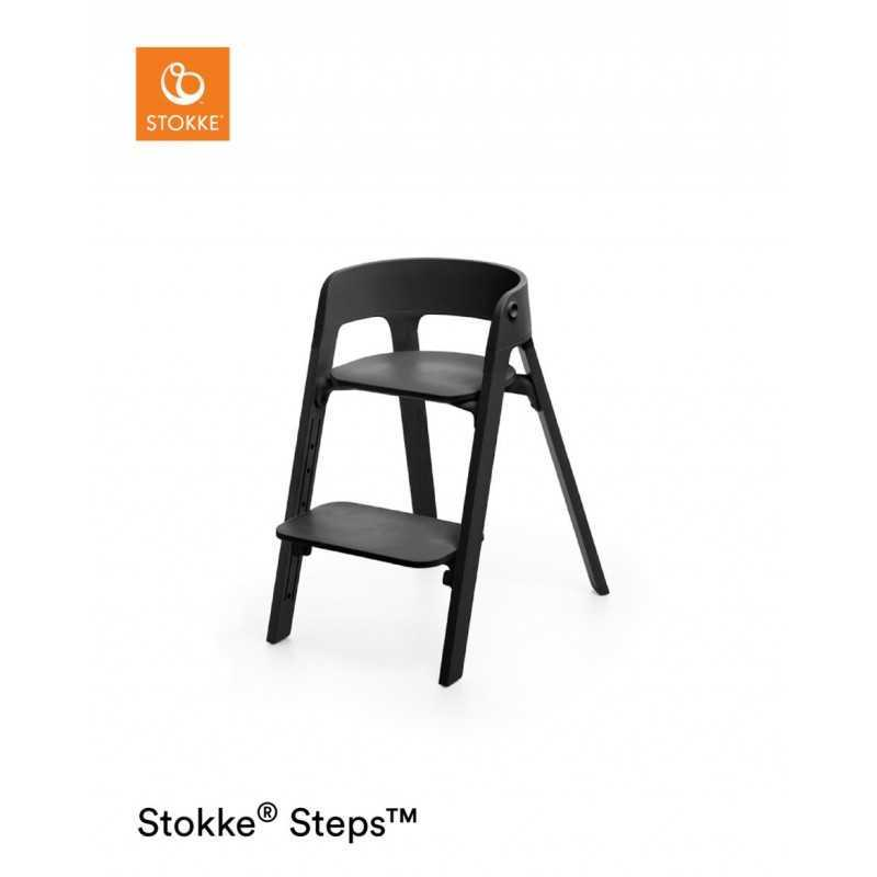Paketti Stokke Steps Syöttötuoli Black/Black + Baby Set + Tarjotin Black Stokke - 1