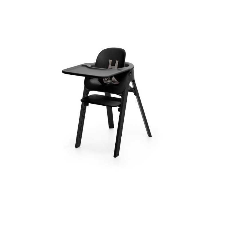 Paketti Stokke Steps Syöttötuoli Black/Black + Baby Set + Tarjotin Black Stokke - 2