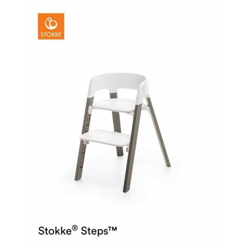Paketti Stokke Steps Syöttötuoli White/Hazy Grey + Baby Set + Tarjotin White Stokke - 1