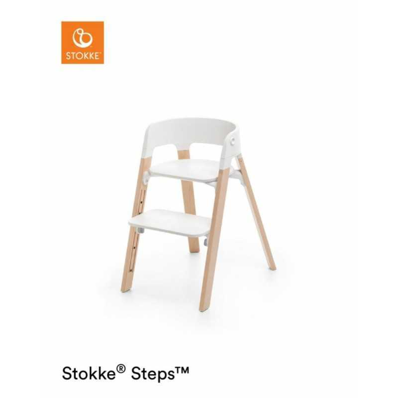 Paketti Stokke Steps Syöttötuoli White/Natur + Baby Set + Tarjotin White Stokke - 1
