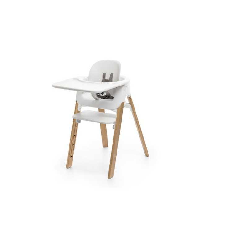 Paketti Stokke Steps Syöttötuoli White/Natur + Baby Set + Tarjotin White Stokke - 2
