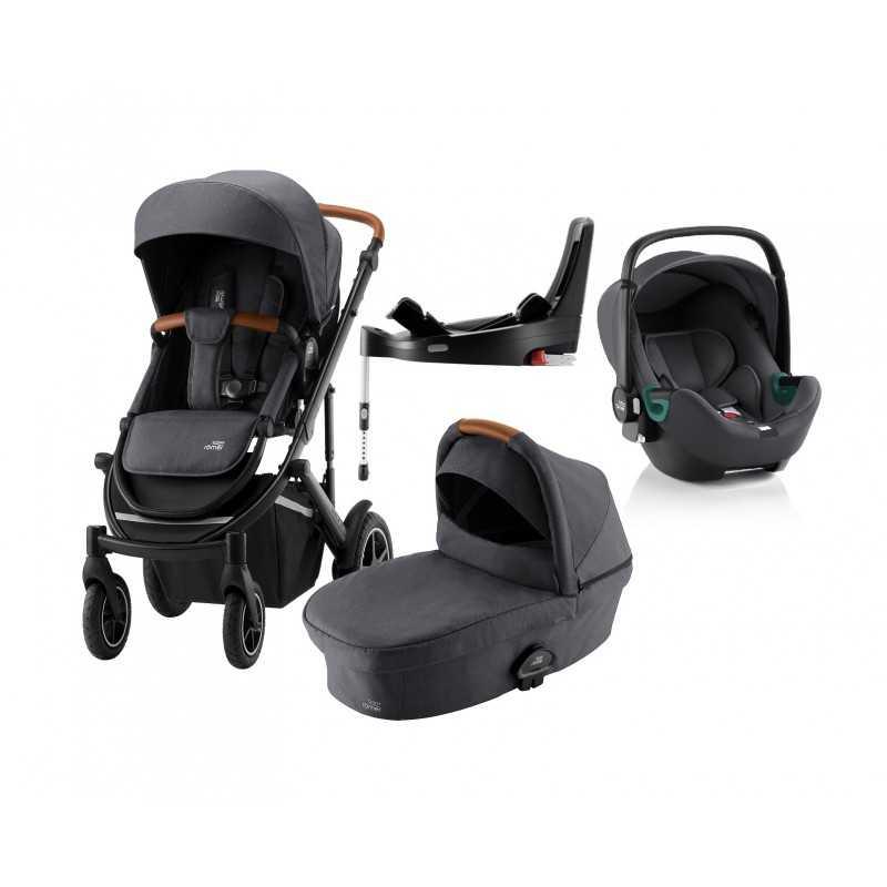 Paketti Britax Smile 3 Yhdistelmävaunu, Midnight Grey + Baby-Safe ISENSE + Flex iSENSE jalusta + varustepaketti Britax - 5