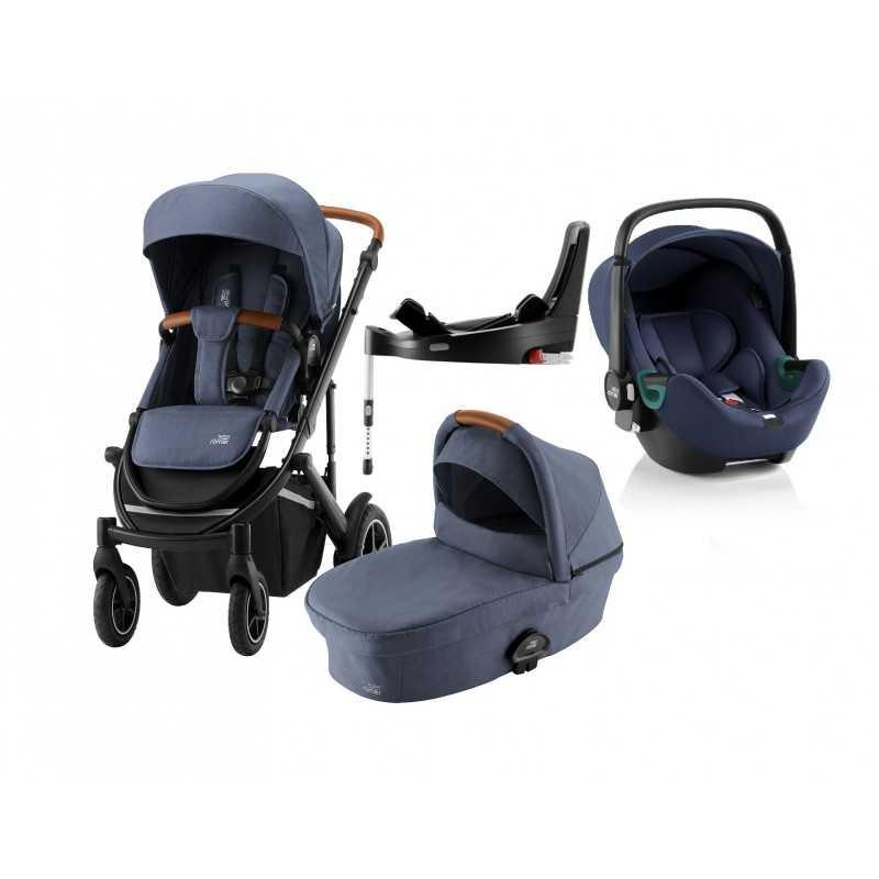 Paketti Britax Smile 3 Yhdistelmävaunu, Indigo Blue + Baby-Safe iSENSE + Flex iSENSE jalusta + varustepaketti Britax - 5