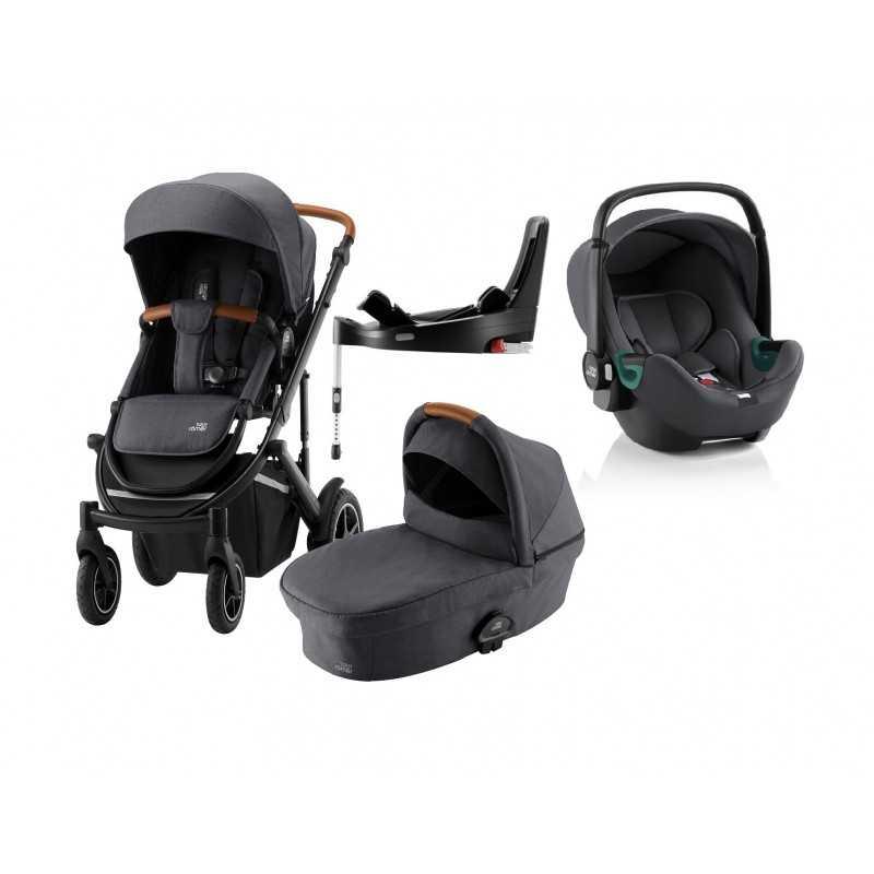 Paketti Britax Smile 3 Yhdistelmävaunu, Midnight Grey + Baby-Safe 3 + Flex iSENSE jalusta + varustepaketti Britax - 5