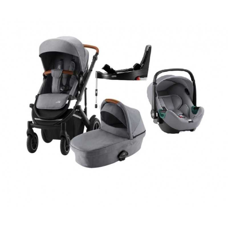 Paketti Britax Smile 3 Yhdistelmävaunu, Frost Grey/Brown + Baby-Safe 3 + Flex iSENSE jalusta + varustepaketti Britax - 6
