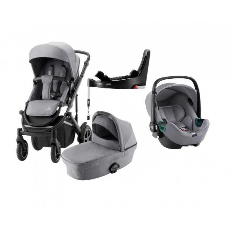 Paketti Britax Smile 3 Yhdistelmävaunu, Frost Grey/Black + Baby-Safe 3 + Flex iSENSE jalusta + varustepaketti Britax - 7
