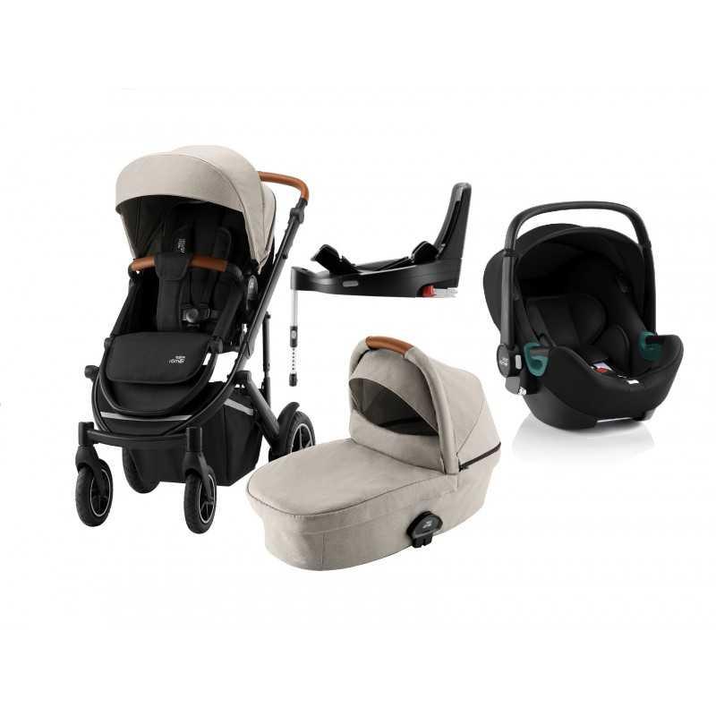 Paketti Britax Smile 3 Yhdistelmävaunu, Pure Beige + Baby-Safe 3 + Flex iSENSE jalusta + varustepaketti Britax - 5