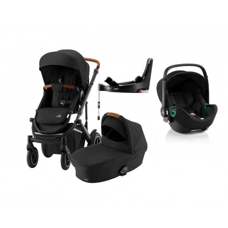 Paketti Britax Smile 3 Yhdistelmävaunu, Space Black + Baby-Safe 3 + Flex iSENSE jalusta + varustepaketti Britax - 6